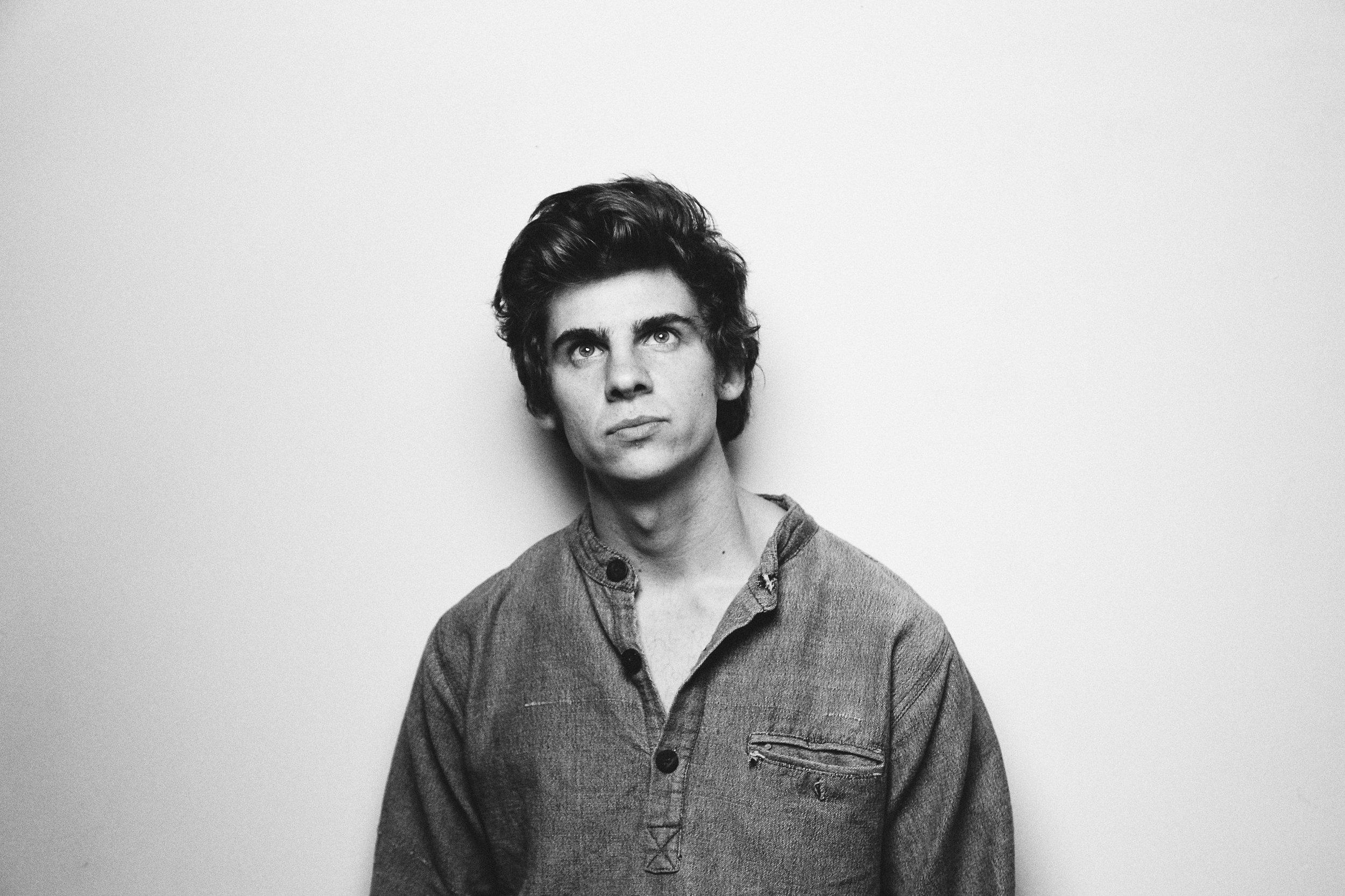 Male Guitarist Studio Portrait