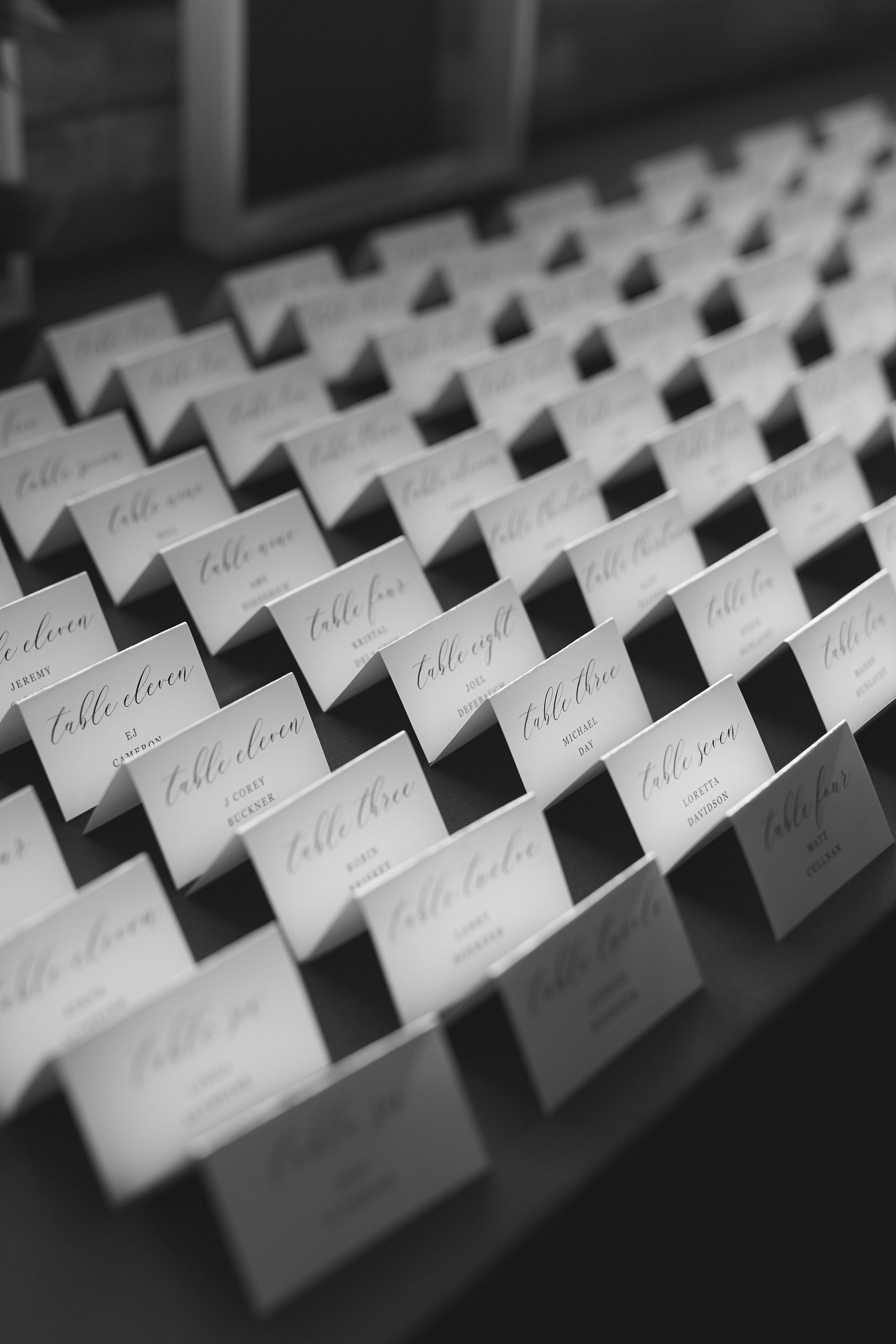 Wedding Reception Name Cards
