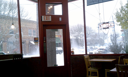 The view from inside  Coffee Division  this morning
