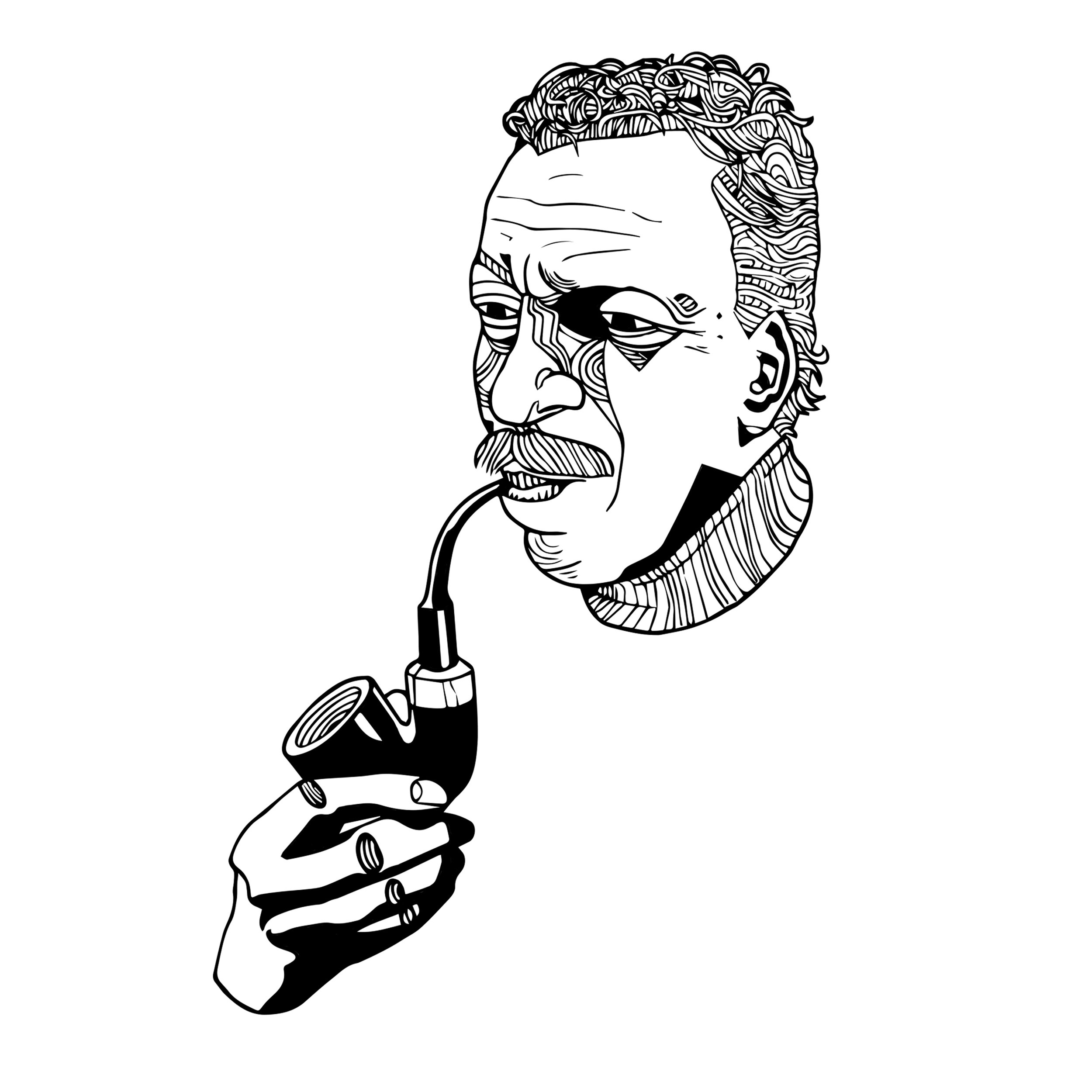 Illustration of photographer Gordon Parks for issue two of Quiet Lunch Magazine.