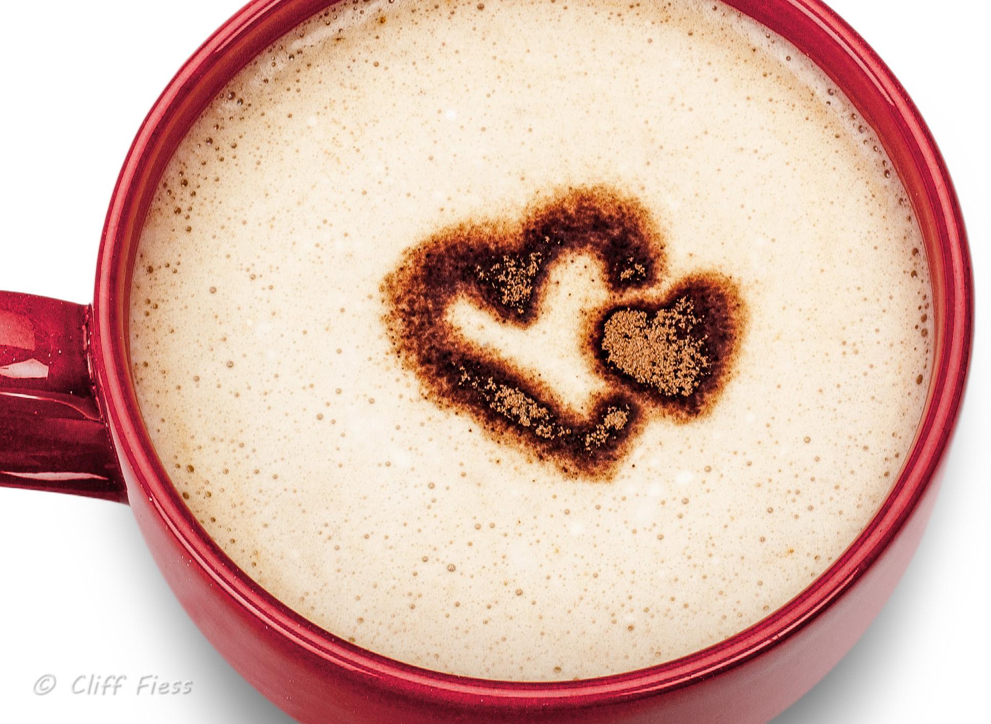 Valentine's Day chocolate milk