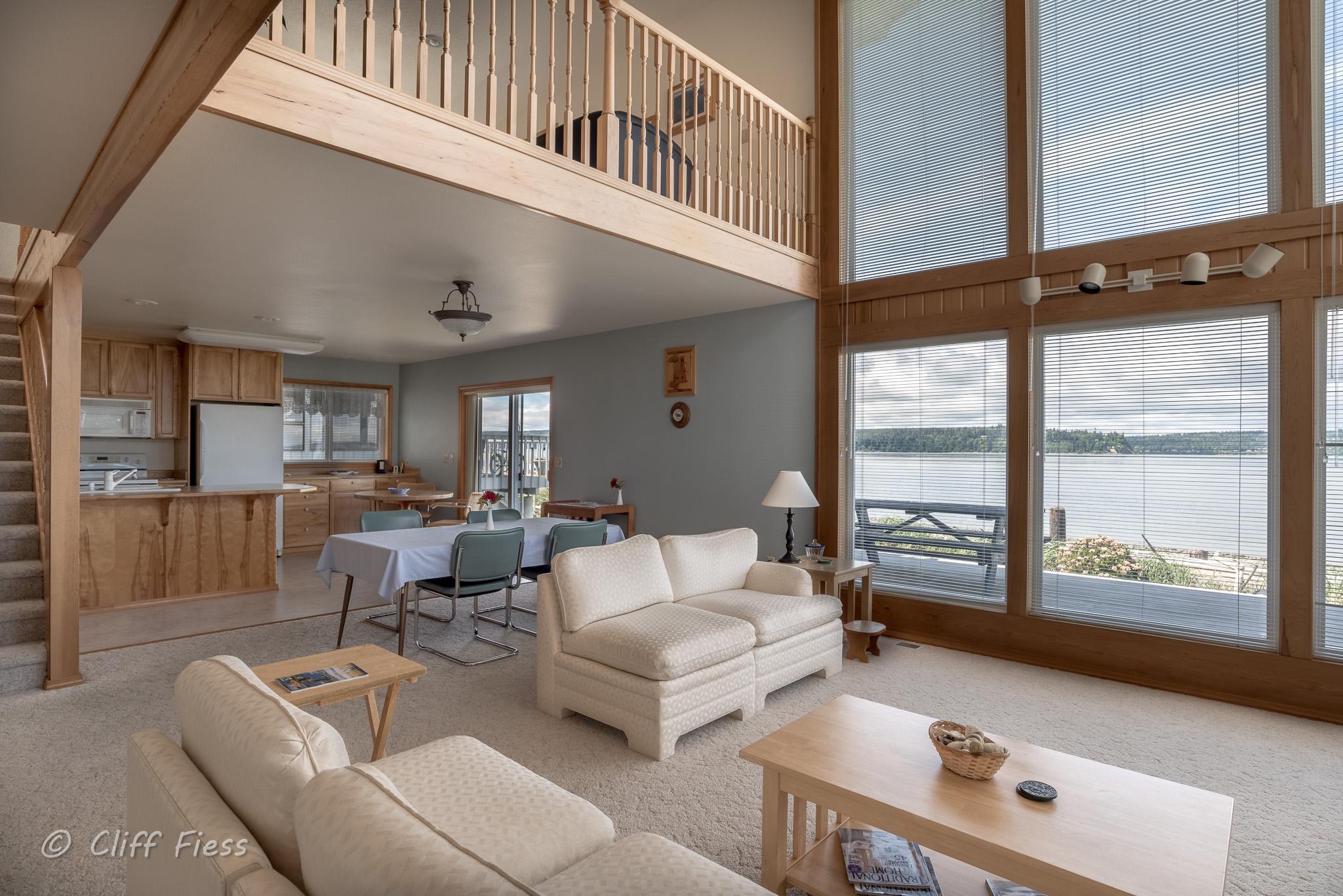 Living Room of a Hansville Residence