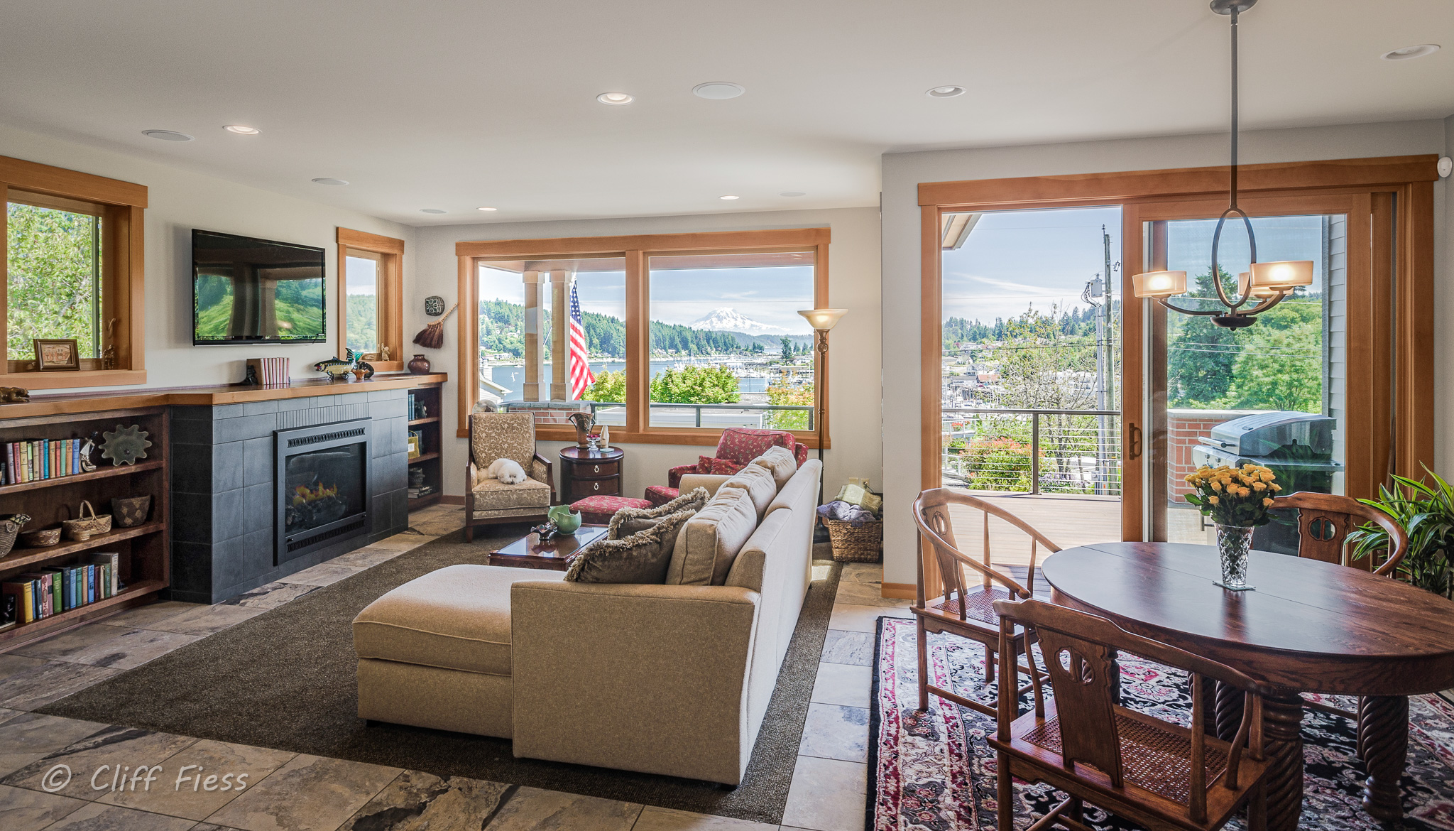 Living Room of a Gig Harbor Residence