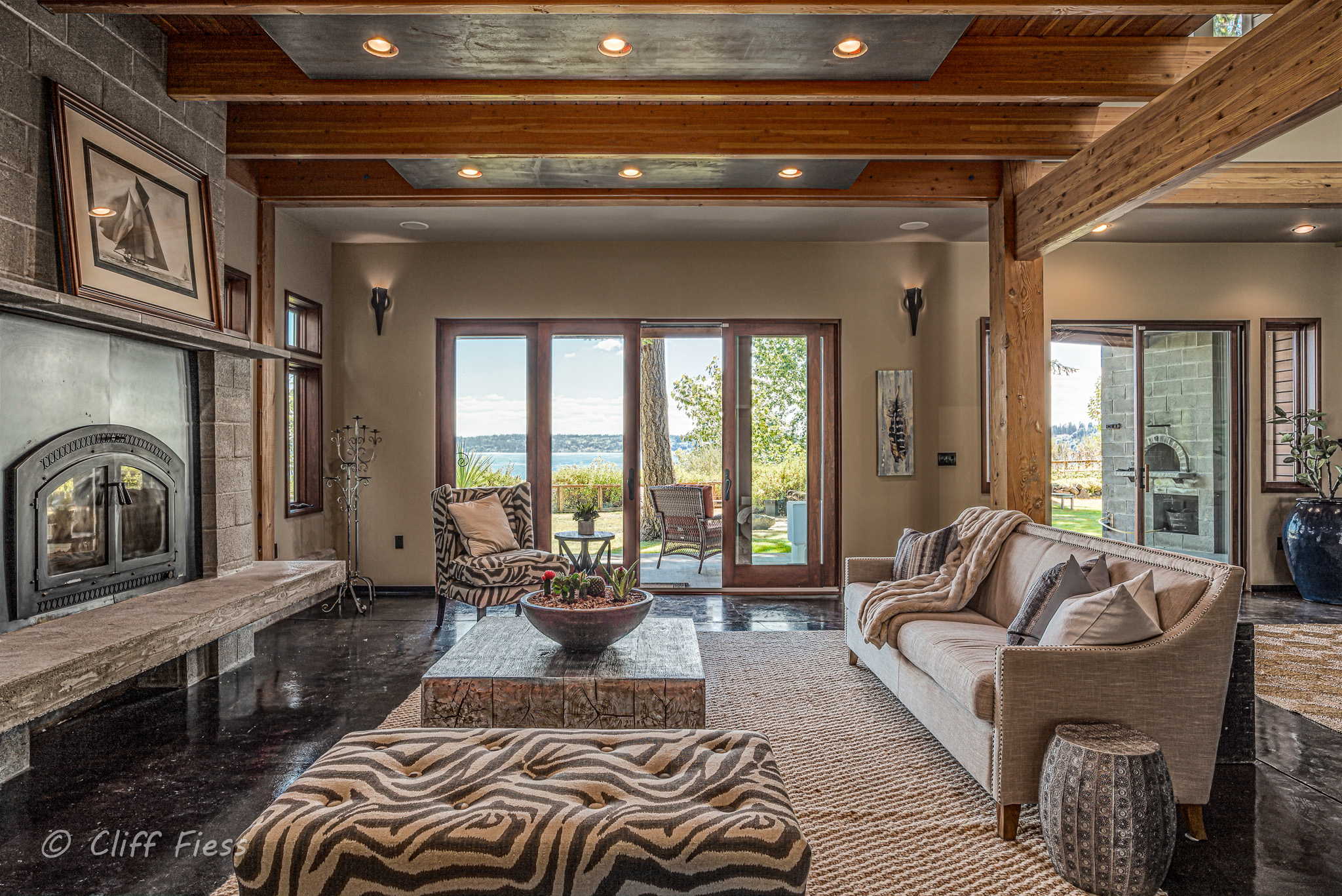 Living Room of a Poulsbo Residence