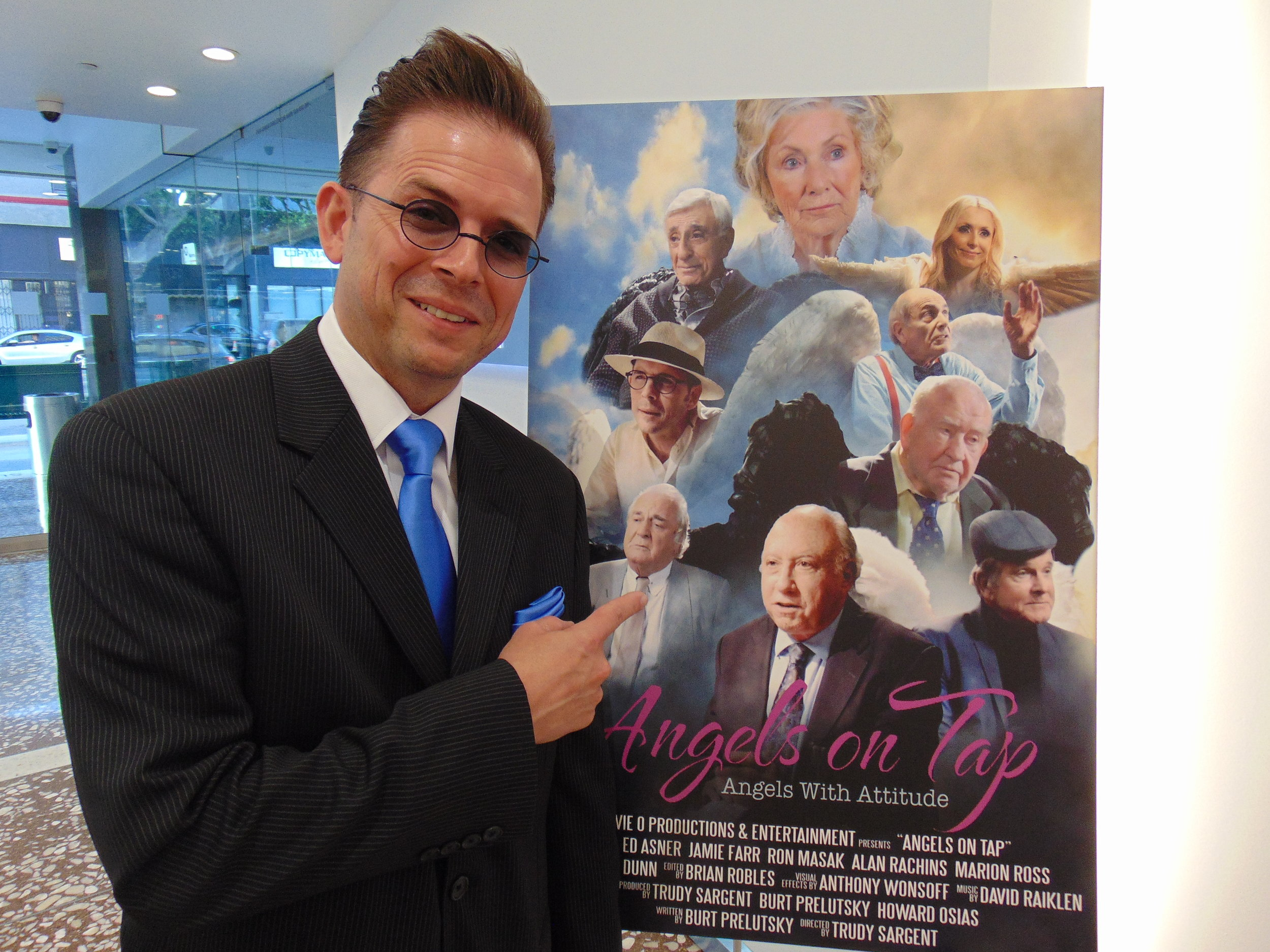 "Stephen Anthony Ralston at The Arena Cinelounge for the screening of ""Angels on Tap"". Stephen Co-Stars as ""Cyrus"" Angel of Travel."