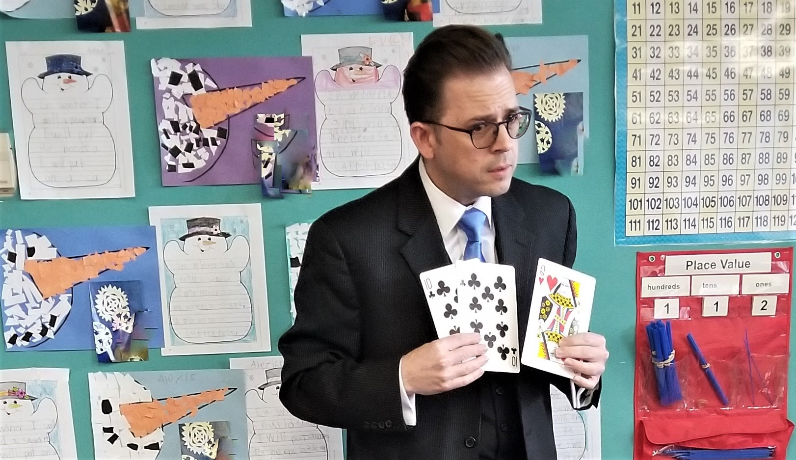 """""""Making Magic Happen."""" - Stephen Anthony finished up by performing a signature piece of magic for the kids in the room.March 2019"""