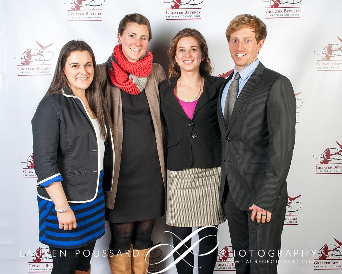 L-R - Kelly Driscoll, Hannah Lawson, Lauren & Patrick Belmonte, Greater Beverly Chamber of Commerce Business Awards