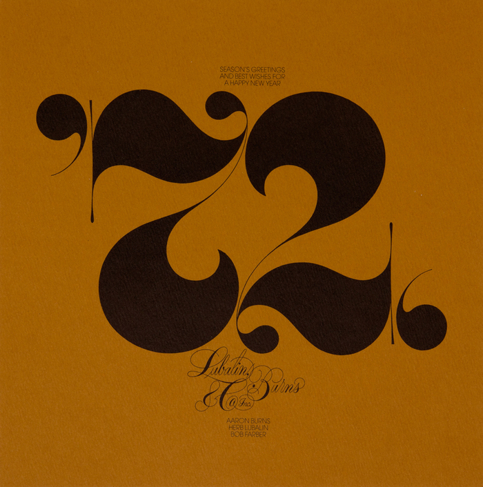 Holiday card designed by  Herb Lubalin . .