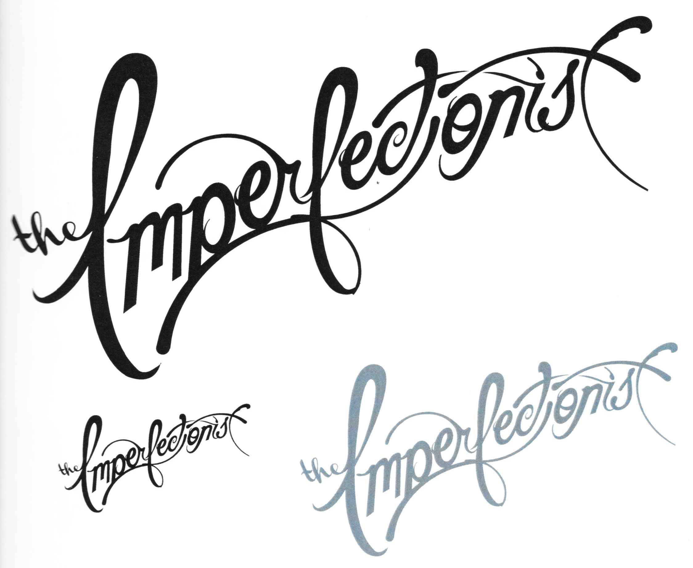 Three versions of an identity mark for a domain name I should not have purchased. The designer described this as chaotic and beautiful, where every letterform is interacting with another and no letter is exactly the same. I think it seems very French, very Art Nouveau, very chic.