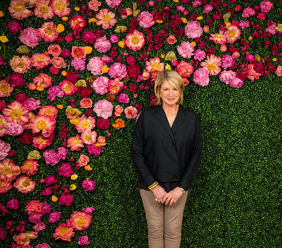 Photo of Martha Stewart by Justin Hackworth.