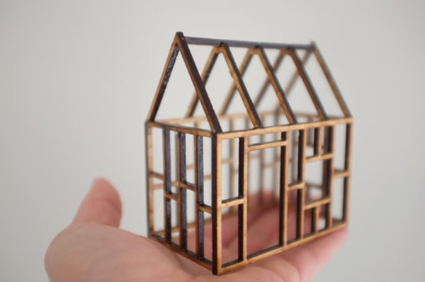 Small birch frame house from  2 of 2