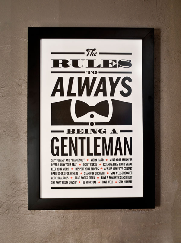 Gentleman Rules print from  All South