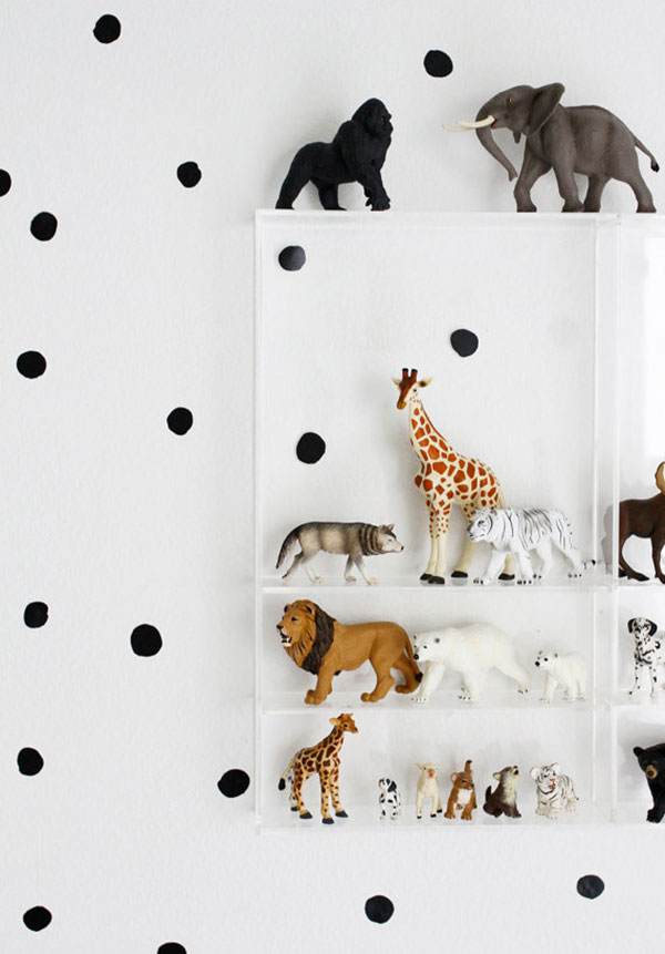 Removable painted dot wall decals at Wee Gallery