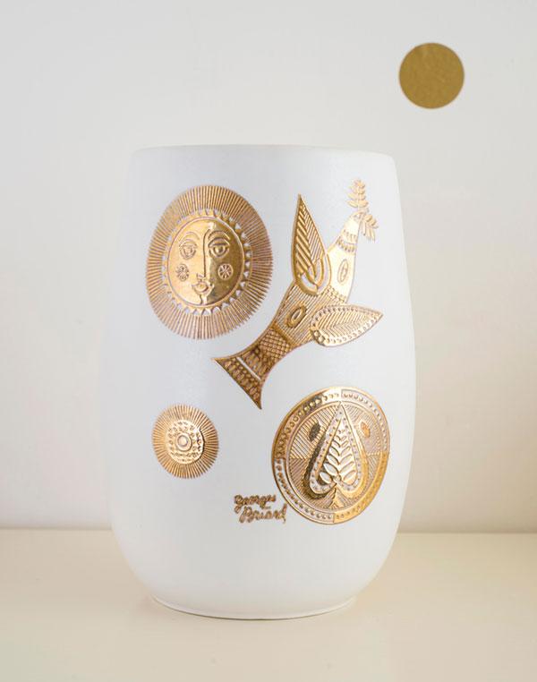 Georges Briard Hyalyn Midas Vase