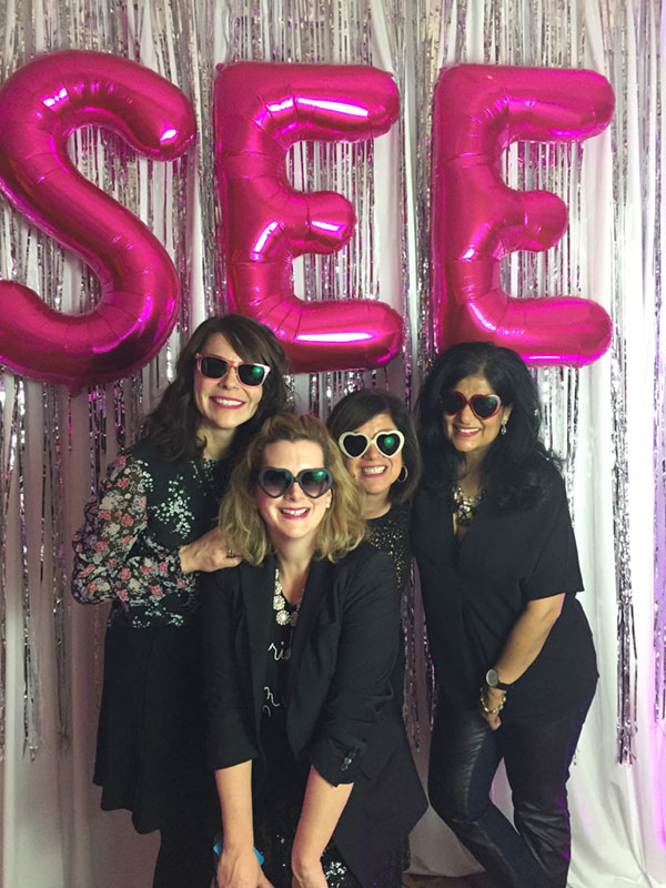 From left to right, Brooke Hatfield, Paige Lewin, me, and Tina Dhillon. Photo via Alt Summit.