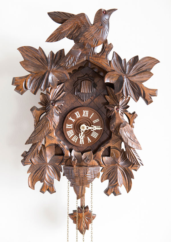 This cuckoo clock is the more affordable version of the stunner that Peter surprised everyone with on a Christmas morning years ago. Click on the photo for shopping details.