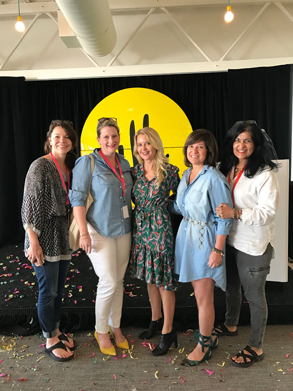 """Christiane Lemieux (center), founder of DwellStudio, author, designer, and creative director of Wayfair, listed the three biggest mistakes she made in her first venture: no business plan; shiny object syndrome; no CFO. """"Starting over is amazing!"""" she said. As an entrepreneur a second time around, she can do in two years what it previously took her ten years to accomplish. And this time, she is using venture capital. And a business plan."""