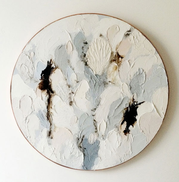 Oil on wood by Lisa Madigan.  More info here .