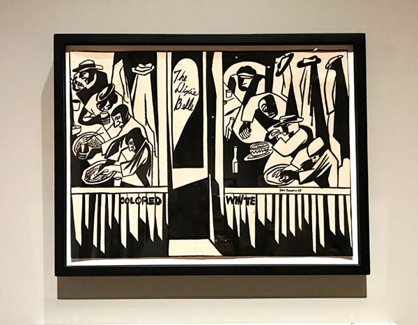 "Jacob Lawrence, ""Dixie Cafe"", ink on paper, 1948 ."