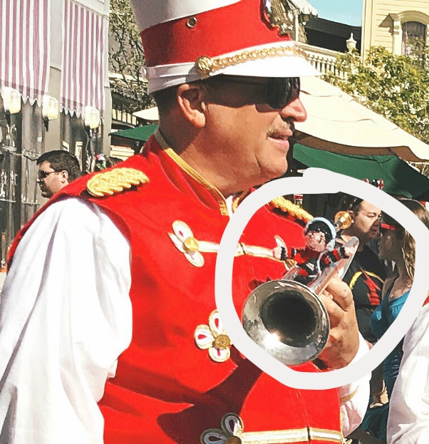 Jim Derrick, trumpeter with the Main Street Philharmonic, agreed to let George sit in with the band for a set.