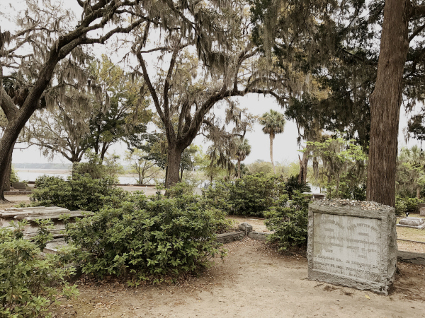 "The view from Conrad Aiken's grave overlooking the Wilmington River. The poet hung out here on the regular, drinking gin and convening with the dead. He won the Pulitzer, was named Poet Laureate of Georgia by Jimmy Carter, and wrote these lines: ""In eighteen hundred and eighty nine / Conrad Aiken crossed the line / In nineteen hundred and question‐mark / Aiken's windowpane was dark / But in between o in between the things he'd seen!"" You can read his    fascinating obituary here   ."