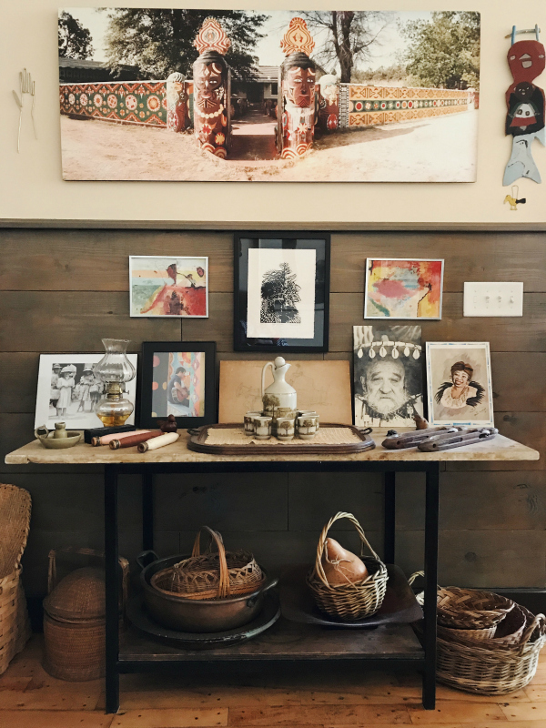 This vignette includes a photograph taken by Fred of    Pasaquan   , the visionary art environment created by fellow citizen of Buena Vista, Eddie Owens Martin, also known as St. EOM. After St. EOM passed away, Cathy and Fred devoted themselves to caring for the estate for nearly thirty years.