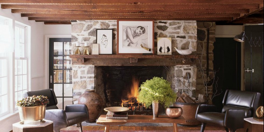 I'm trying to update my family room fireplace mantel and   this is my inspiration  .