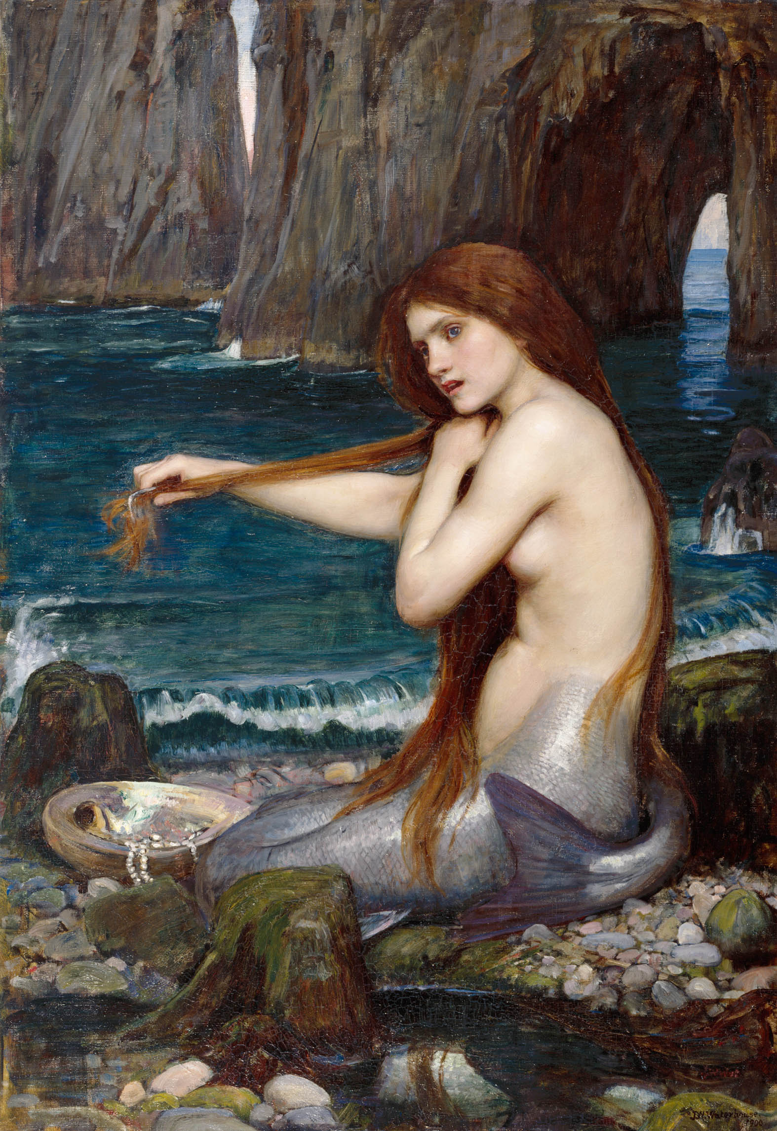 John William Waterhouse,  A Mermaid , 1900, oil on canvas, ® Royal Academy of Arts, London, Photographer John Hammond