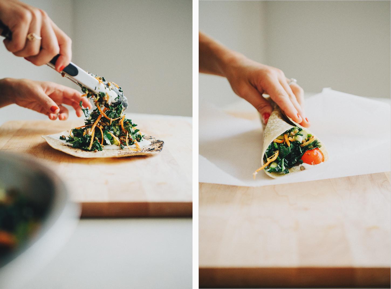 Fiesta Kale Wraps via Sprouted Kitchen
