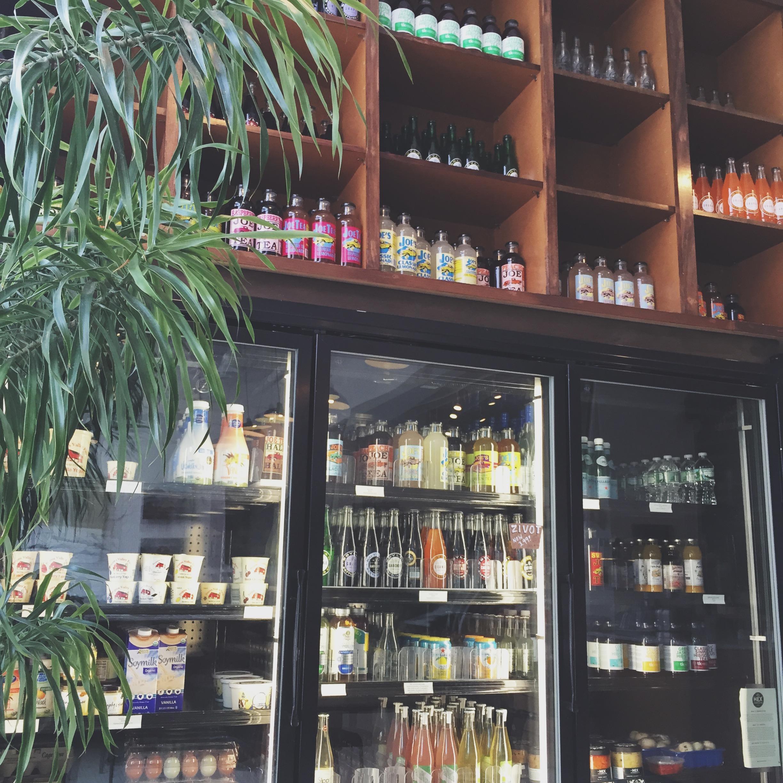 Coffee and kombucha at Milk & Honey, Mt. Vernon. Photo by Jess D'Argenio Waller.