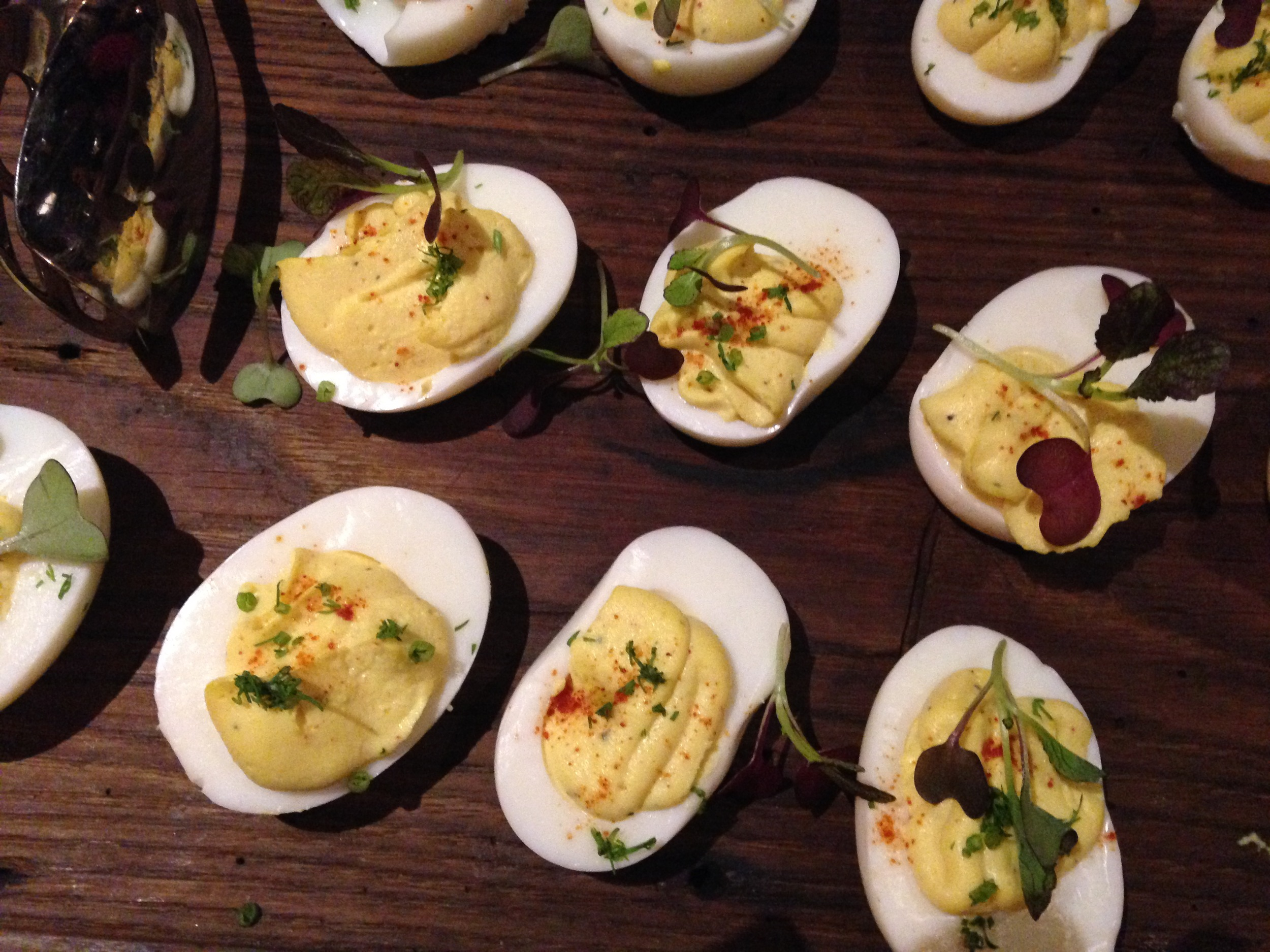 Is it picnic season yet? Deviled eggs from Roots & Leaves.