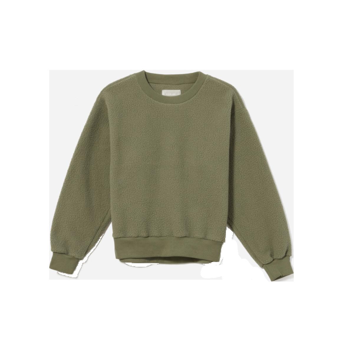 6. Chic fleece:   Everlane The     ReNew     Fleece Sweatshirt