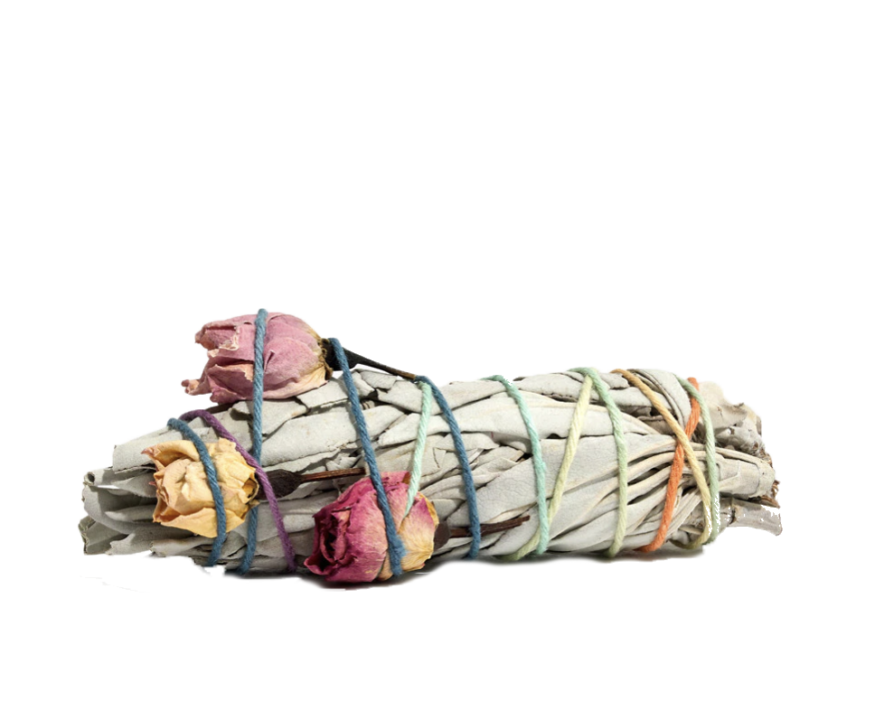 2. Good vibes only:   Catherine Rising Floral Sage Smudge Stick
