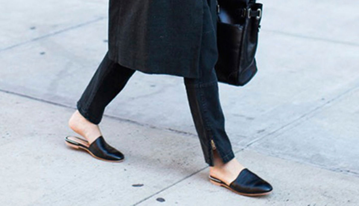 Emerson Fry Black Leather Mules