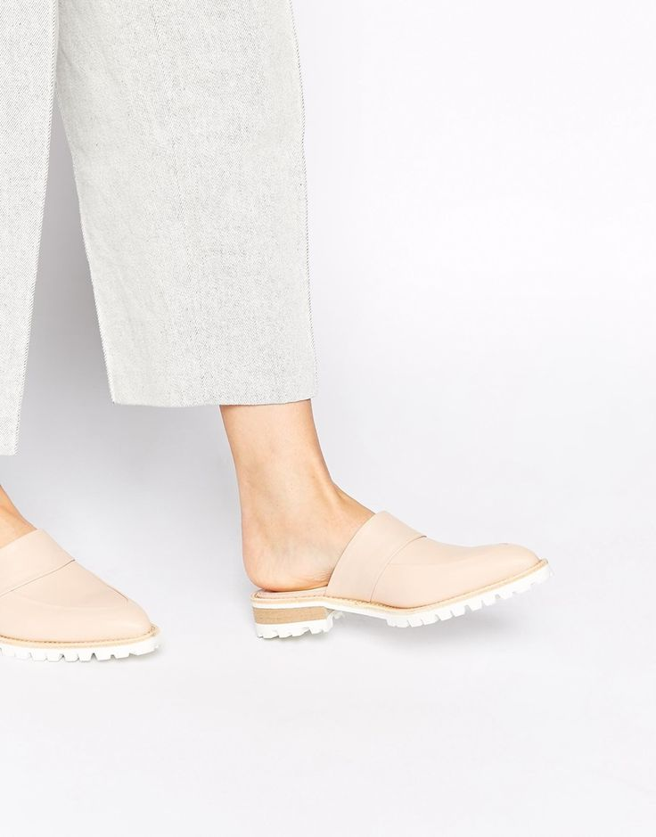 Whistles Milla Backless Point Toe Flat Mule Sandals