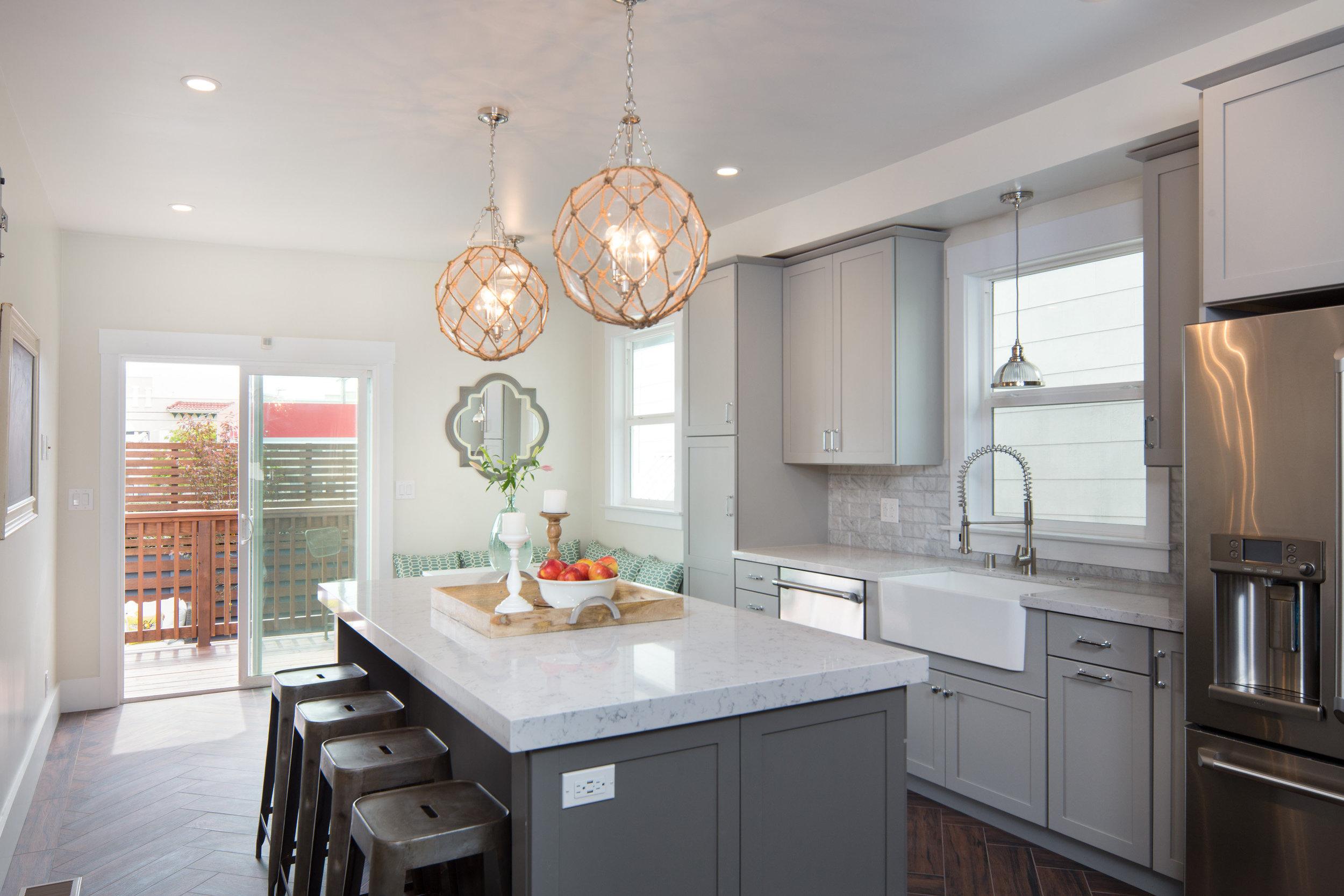 before and after kitchen renovation in Oakland, Glenview