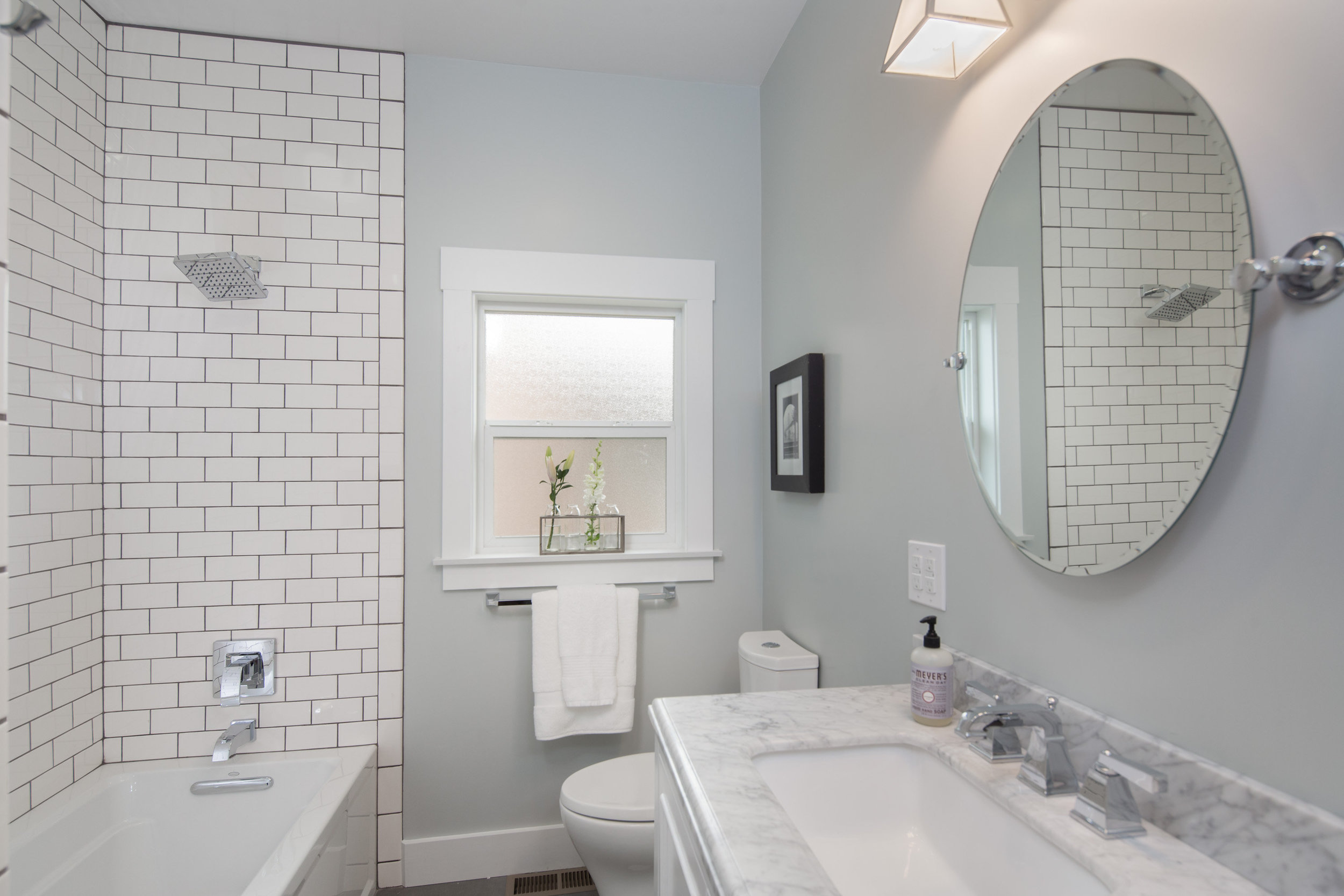 before and after bathroom renovation in Oakland, Glenview