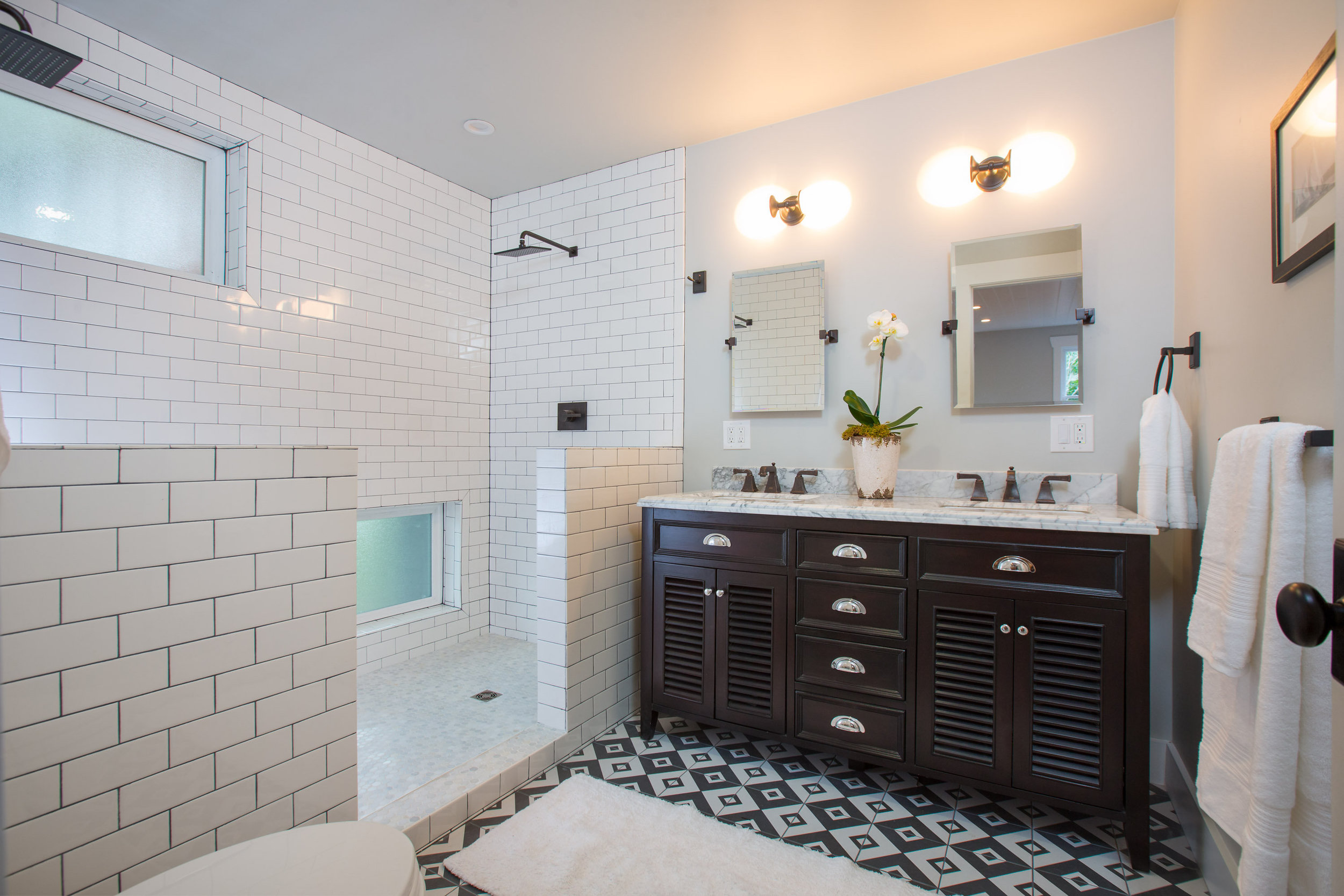 before and after bathroom renovation in glenview, oakland ca
