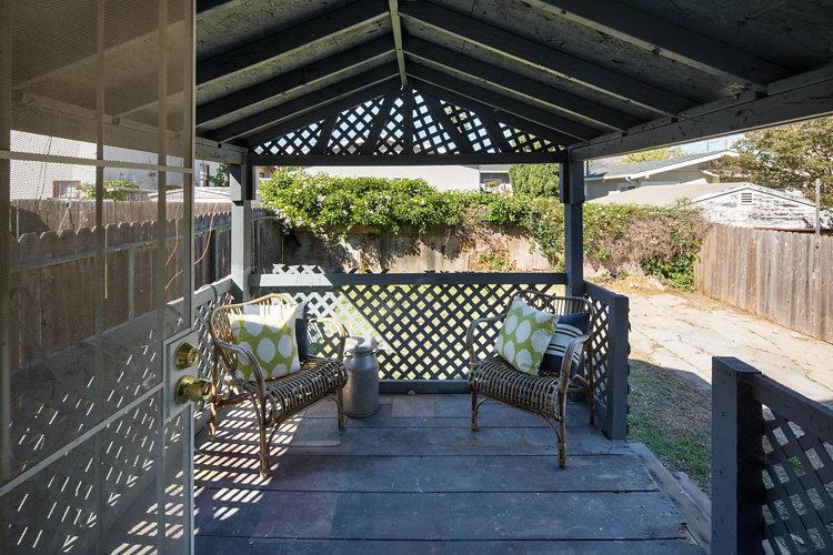 Backyard Deck. 5514 Laverne Oakland CA 94605