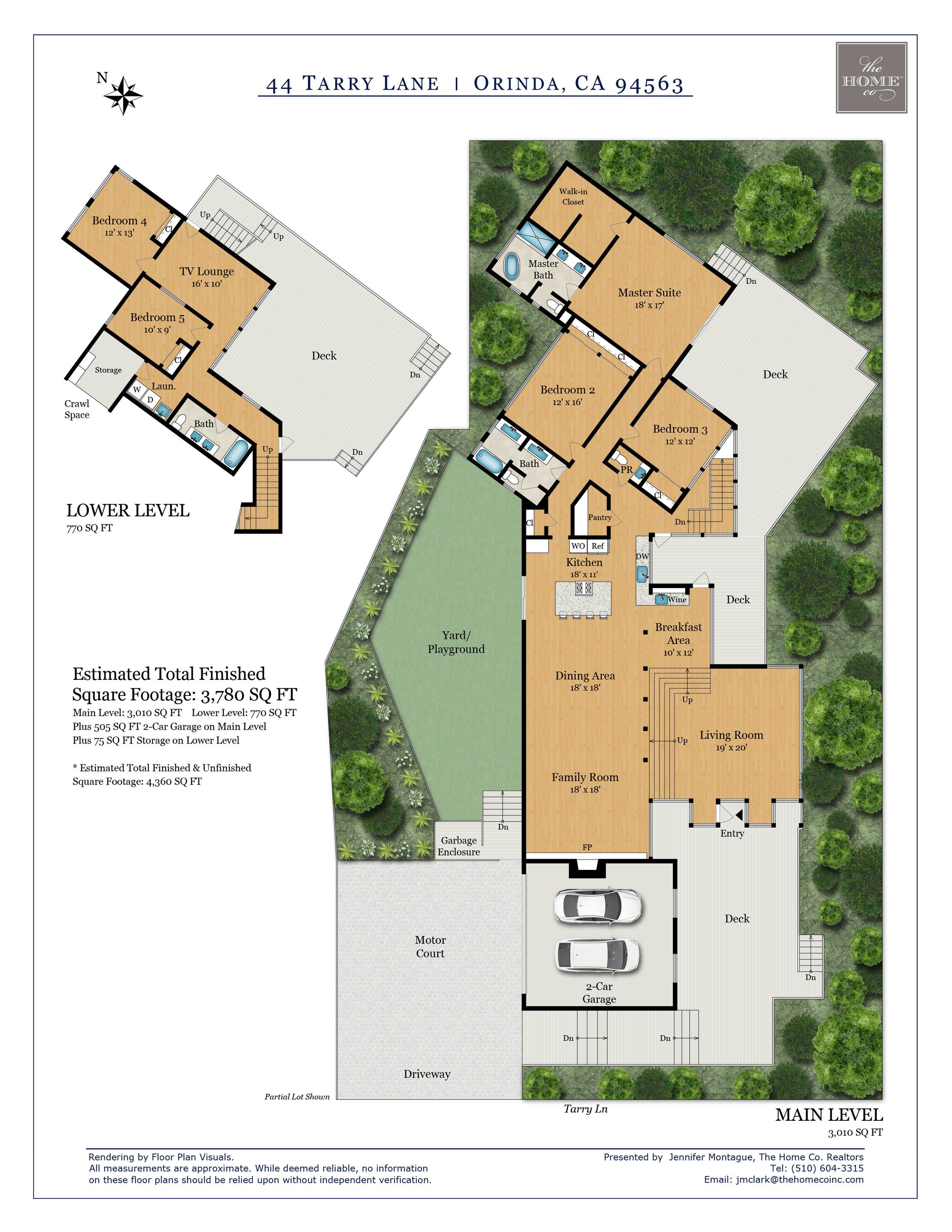 44 Tarry Lane Orinda Floor Plan