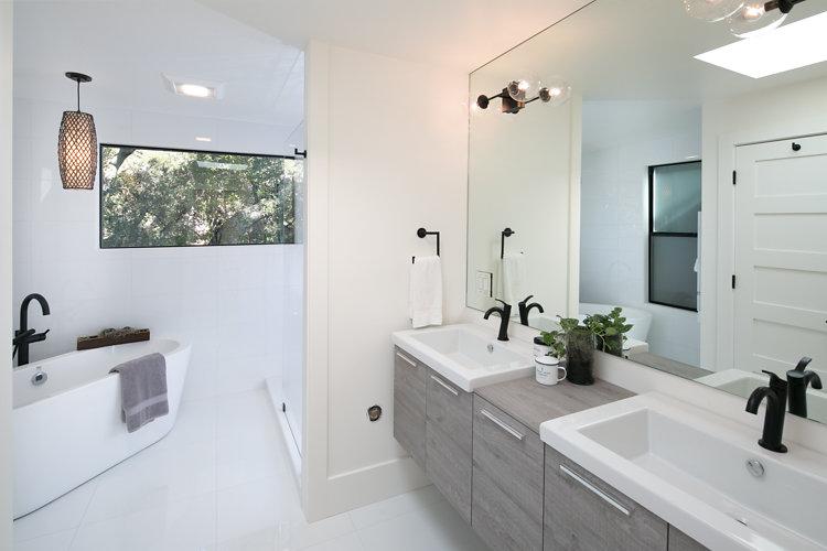 44 Tarry Lane, Orinda. Master Bathroom: After