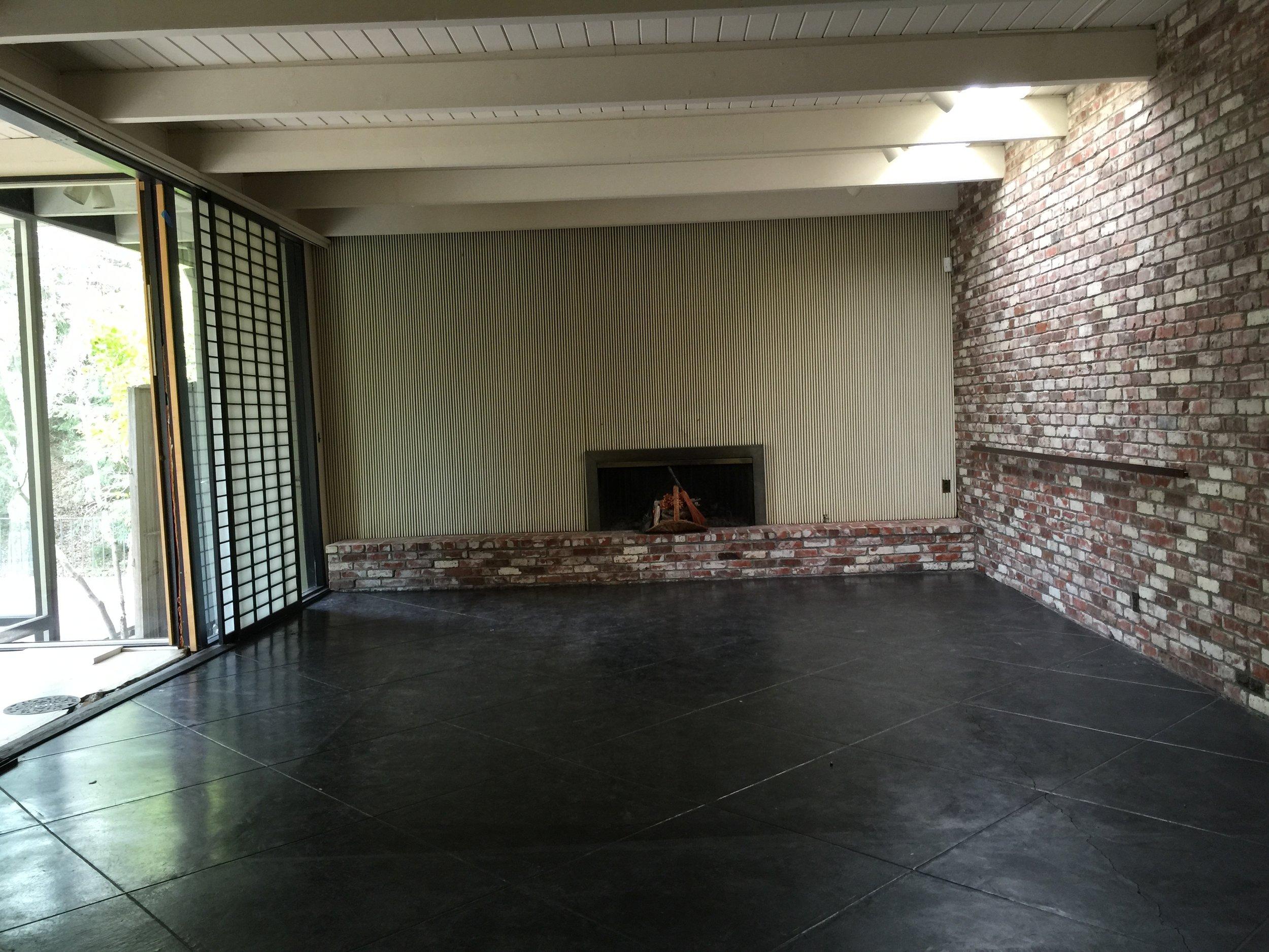44 Tarry Lane, Orinda. Family Room: Before