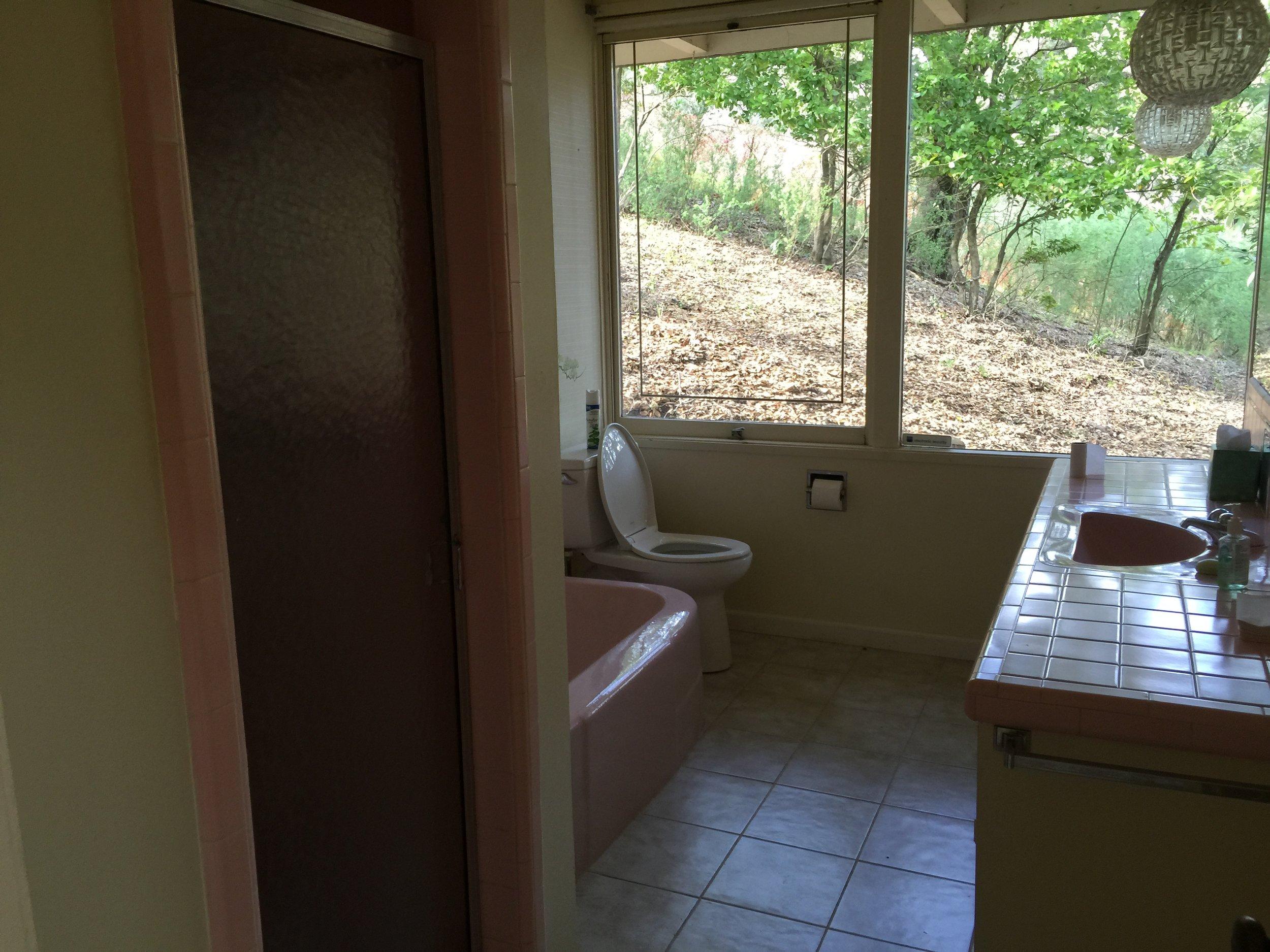 44 Tarry Lane, Orinda. Guest Bathroom: Before