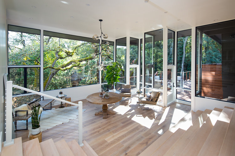 Large Floor-to-Ceiling Windows at 44 Tarry Lane in Orinda