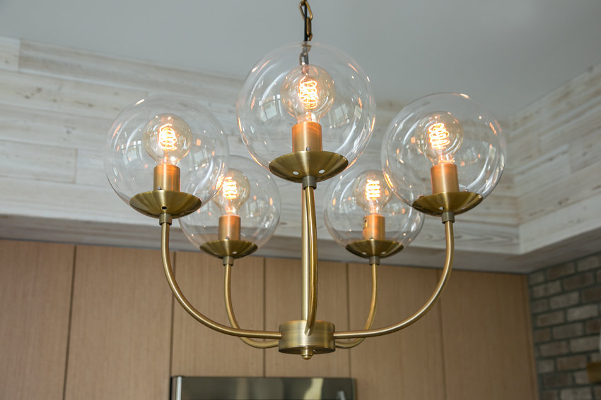 New vintage-look steampunk-inspired chandelier at 1176-66th Street, Oakland CA 94608