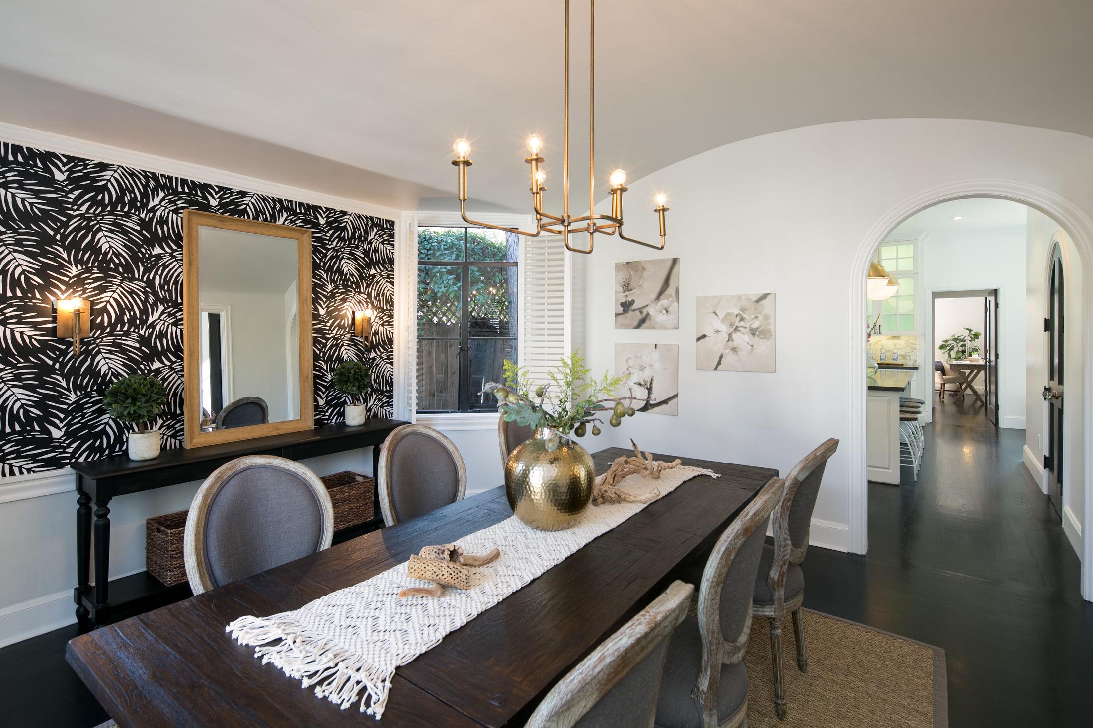 Crocker Highlands Modern Mediterranean Interior Design and Staging- after