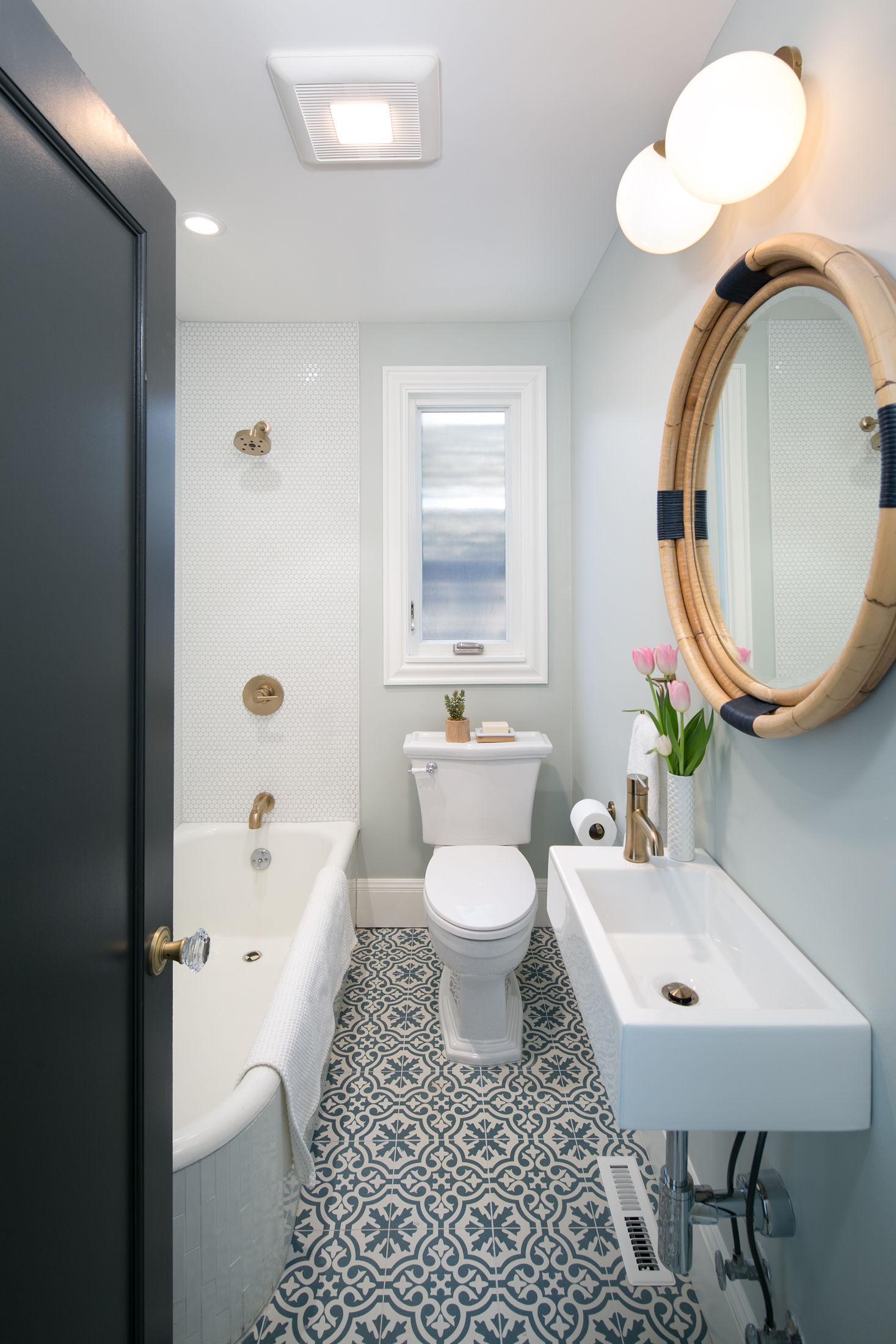 Crocker Highlands Modern Mediterranean Bathroom Renovation, Interior Design and Staging- after