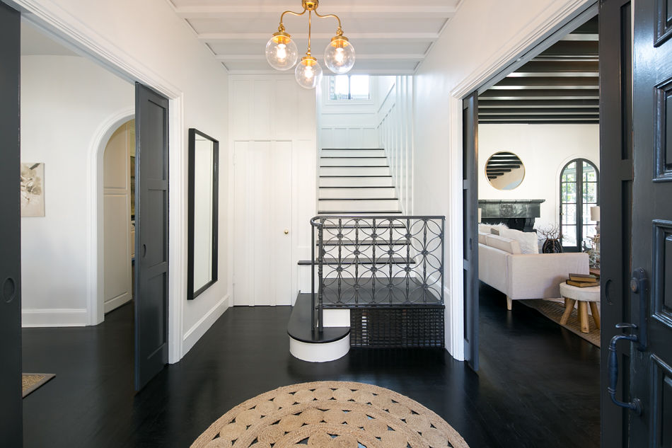 Crocker Highlands Modern Mediterranean Rehab- Foyer After