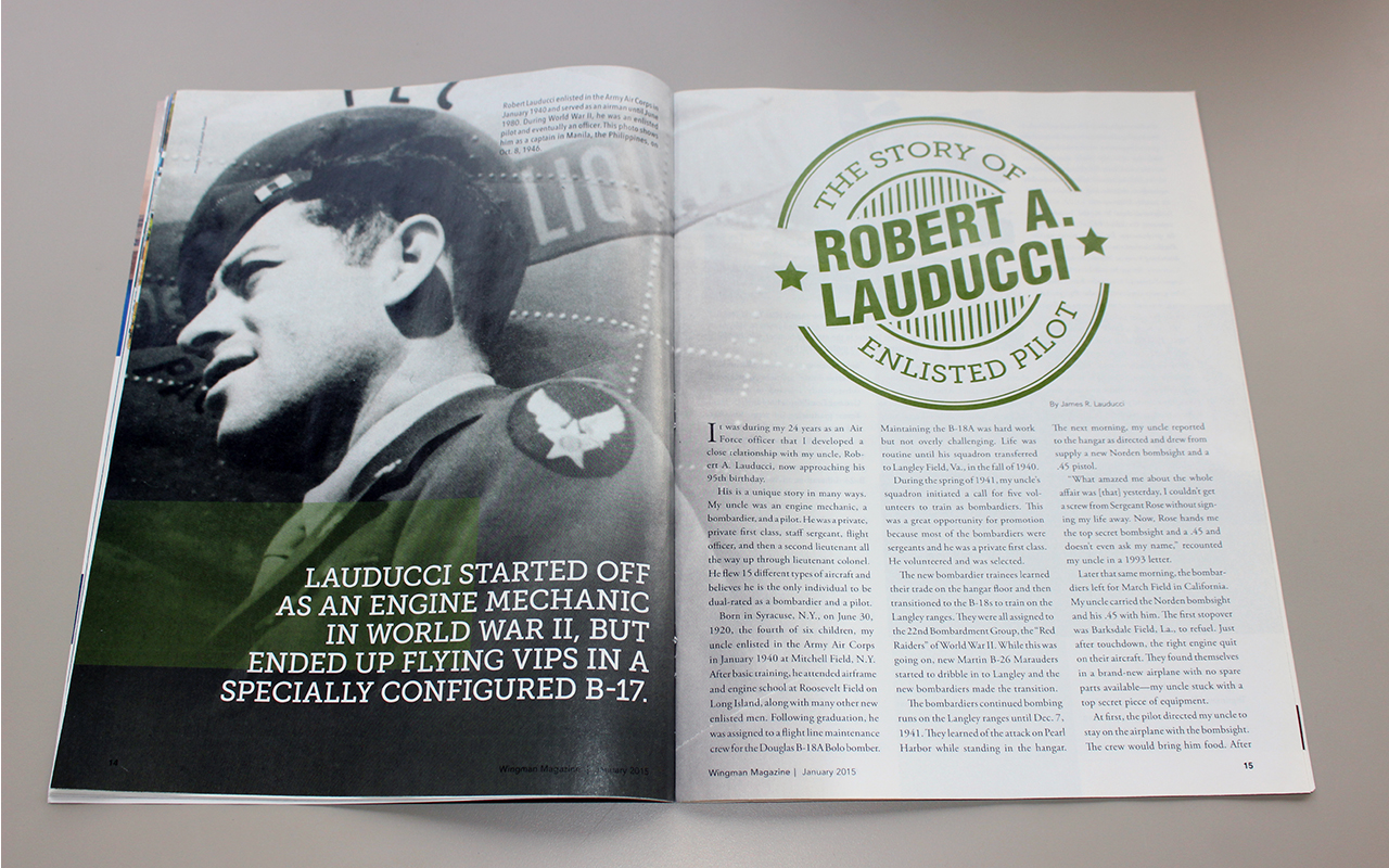 Editorial Design for the Air Force Association
