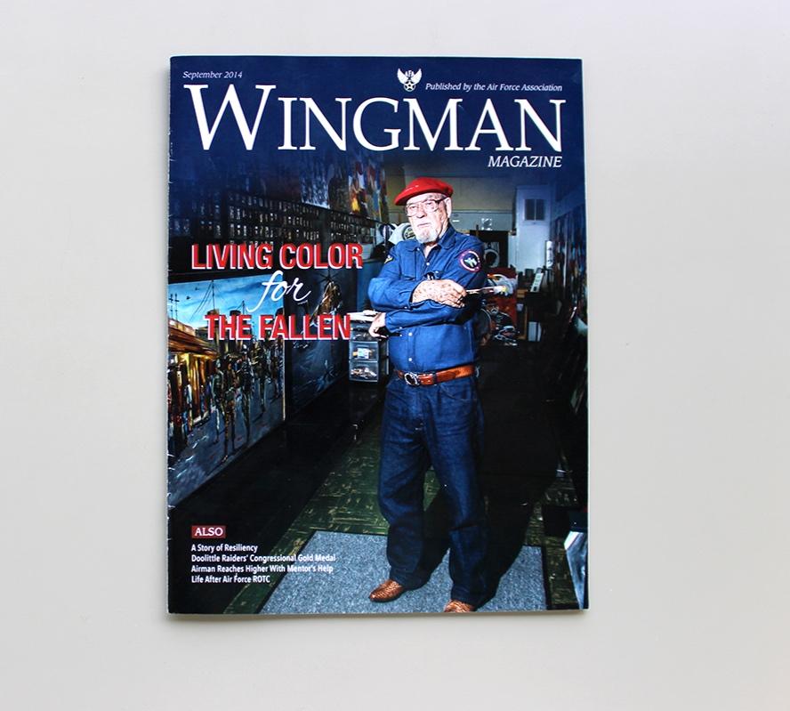 Cover Art Direction for Wingman Magazine